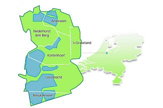 Wijdemeren is met 7.700 hectare de grootste gemeente in Gooi & Vecht.